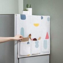 Водонепроницаемый PEVA печать крышка холодильника пылезащитный чехол с Сумка для хранения на кухне принадлежности U1932