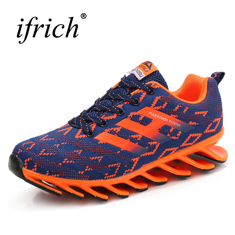 2017 Sport Running Shoes Mens Sneakers Mesh Breathable  Athletic Shoes Brand Jogging Sneakers Black Orange Training Shoes 2017brand sport mesh men running shoes athletic sneakers air breath increased within zapatillas deportivas trainers couple shoes