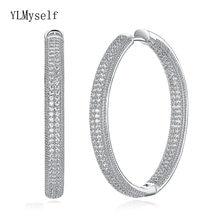 Серьги кольца женские большого размера классические ювелирные
