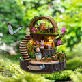 Newest Doll House Furniture Diy Miniature 3D Wooden Miniaturas Dollhouse Toys for Children Birthday Gifts Fantasy Forest
