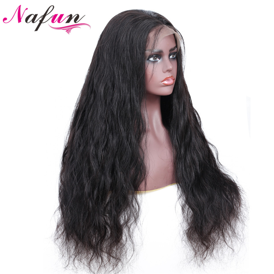 NAFUN 13x4 Lace Front Wigs With Baby Hair For Black Women Peruvian Remy Body Weave Wig Lace Front Human Hair Wigs-in Human Hair Lace Wigs from Hair Extensions & Wigs    1
