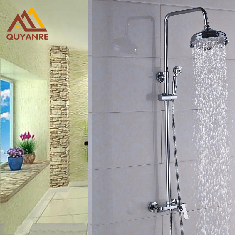 ▽New Design Wall Mounted Shower Mixer Faucet 8 Inch Showerhead ...