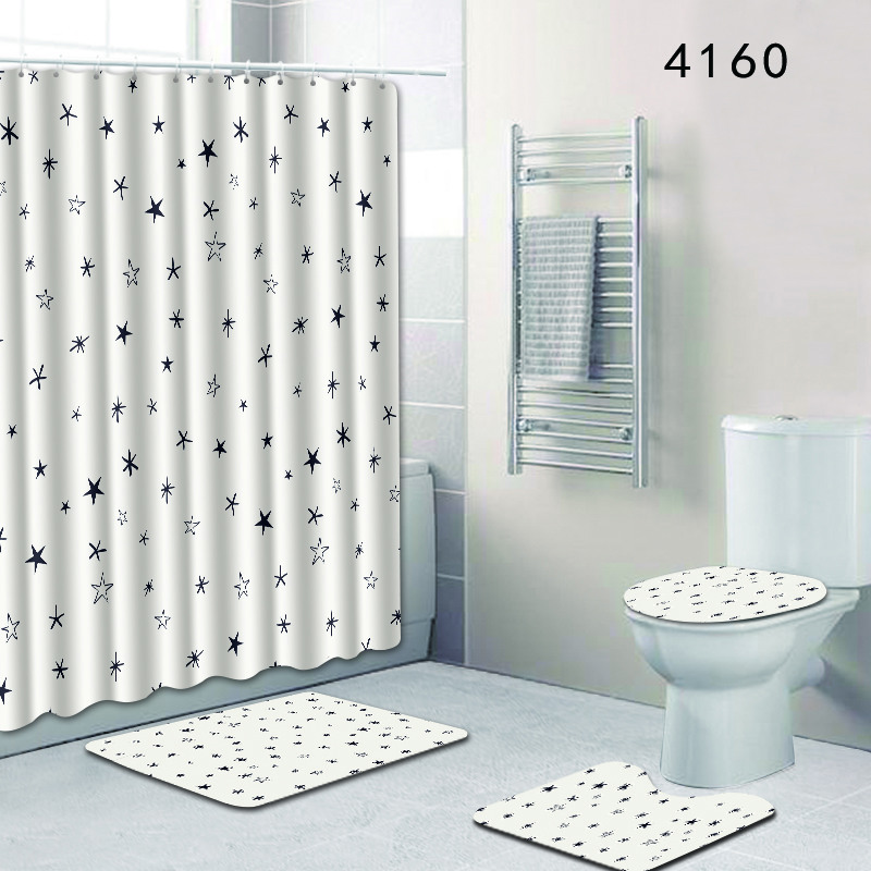 Swell Nordic Simple Toilet Mat Accessories For Home Decor India Waterproof Bathroom Shower Curtain And Rug Sets 4Pcs Set 3D Bath Mat Download Free Architecture Designs Philgrimeyleaguecom