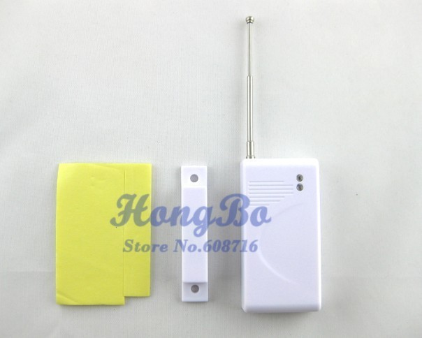 freeshipping wholesale 1pcs wireless door sensor work with PSTN and GSM alarm system  the lowest price
