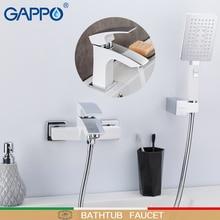 GAPPO Смесители для ванной комнаты белый смеситель для ванной водопад кран душевая головка набор смеситель для ванной экономии воды краны