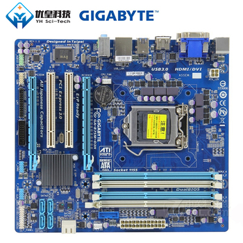 Gigabyte GA-B75M-D3H Intel B75 Original Used Desktop Motherboard LGA 1155 i7 i5 i3 DDR3 32G SATA3 USB3.0 DVI VGA HDMI Micro-ATX