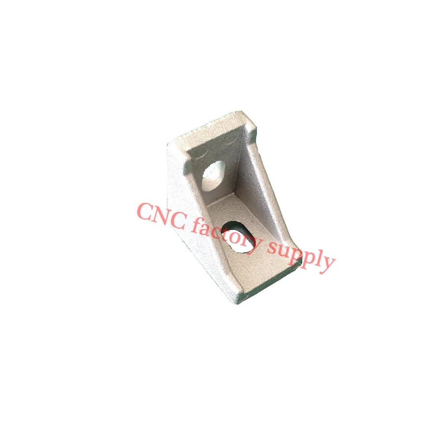 HOTSale 2028 corner fitting angle aluminum connector bracket fastener 20/30/40/45/60/80 series industrial aluminum profile