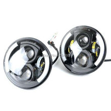 DHL TNT FAST SHIPPING 2PCS 7″ Round 47.5W Cree LED Driving Light Headlights Turn Signal Light Lamp for Jeep Wrangler
