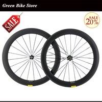 Carbon Wheels 700C Carbon 60mm Depth 23mm Bicycle Bike Rims Carbon Rims UD Matt road wheelset cllincher