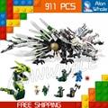911 шт. Бела 9789 Epic Dragon Battle Building Blocks Ниндзя Действий Новые Игрушки Модель, Совместимую С Lego