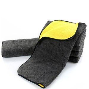 Image 3 - Extra macio 30*30 30*60 30*40cm lavagem de carro toalha de microfibra pano de secagem de limpeza de pelúcia cuidado de carro detalhando polimento