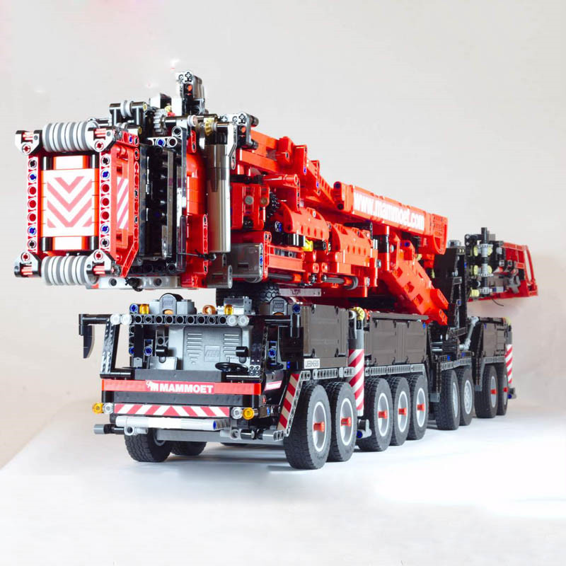 NEW MOC RC Power Function Crane LTM11200 Fit For Lepines 20920 Technic Motor MOC-20920 Kits Building Blocks Bricks DIY Toy Gifts