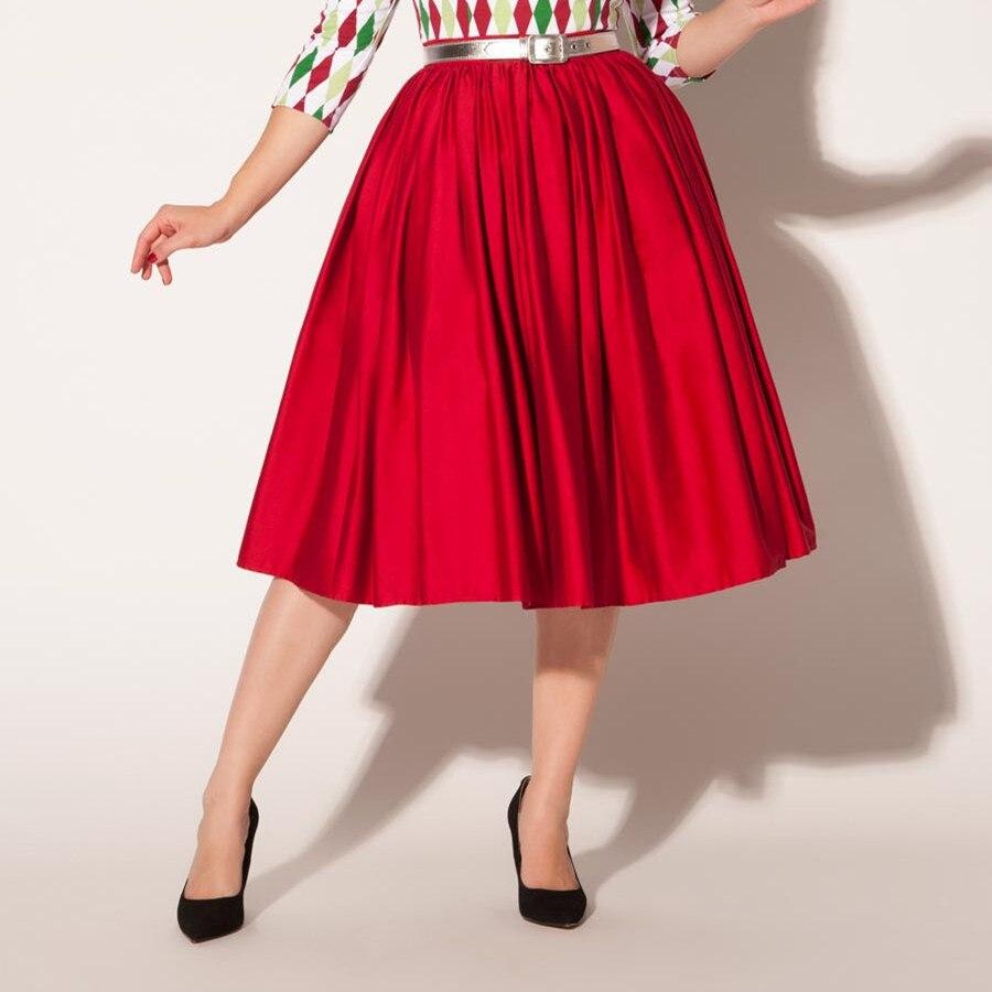 2d8de65d6 40 women vintage 50s jenny skirt in red high waist rockabilly pinup swing  skirts plus size saias femininas female faldas-in Skirts from Women's  Clothing on ...
