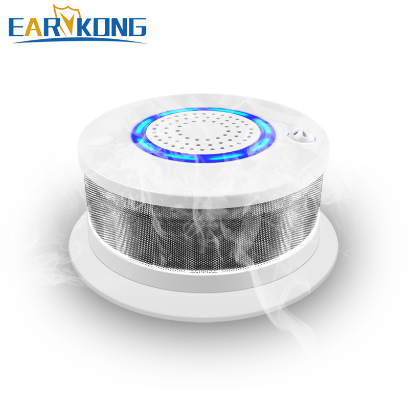 Fire Smoke Detector 433MHz Wireless Smoke / Fire / High Temperature Alarm Sound & Light Alarm For Home Security Alarms System