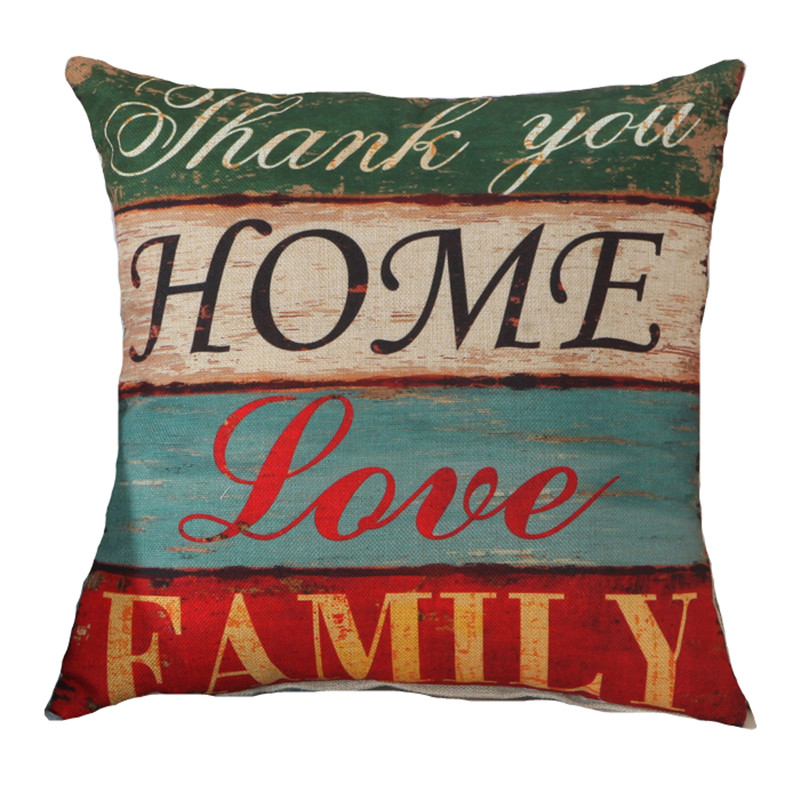 buy fashion home cushion without inner letter printed polyester decor sofa car. Black Bedroom Furniture Sets. Home Design Ideas