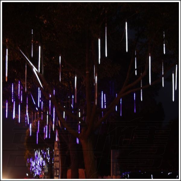 30cm Hollow LED Meteor Shower Rain Tube Light Outdoor Waterproof Tree Decoration Wedding lamps Garlands 1set 8 Tubes Wholesales