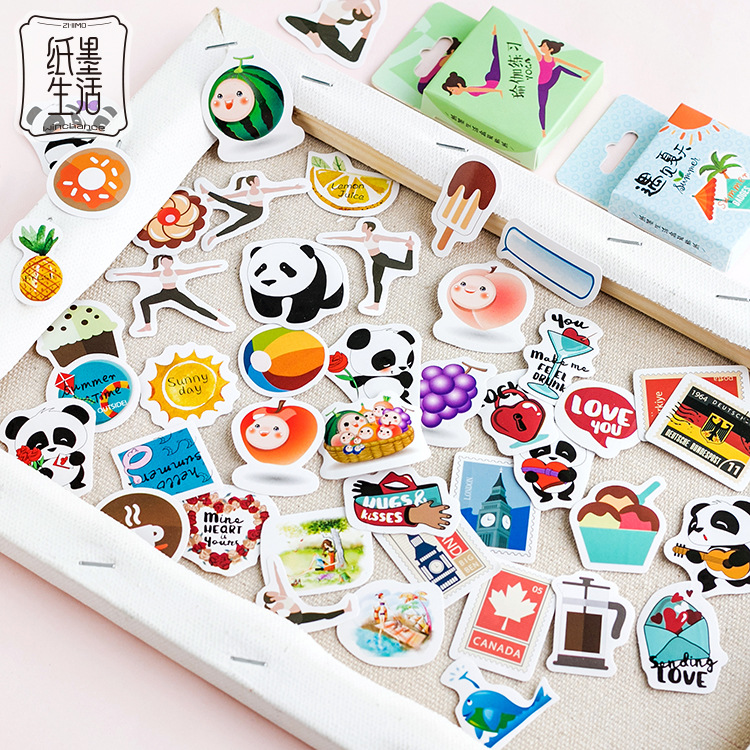 20set Scrapbooking Diary Planner Stickers Kawaii Summer animals sticky notes Abums Photo Tag/gift sealing paste/Cute stationery