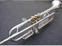 Sales Senior Silver platingTrumpet LT190S 77 B flat Small Brass Musical Instrument Trompeta Professional High Grade Free