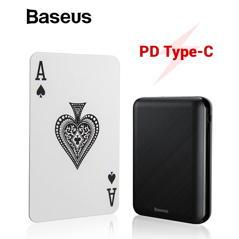 Baseus Mini Power Bank 10000 mAh LCD Display PD Typ-C Schnelle Lade Power Bank Tragbare Ladegerät Tiny Externe batterie Poverbank