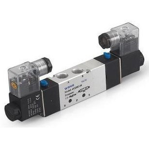 4V330-08 5Ports 2Position 12V DC Double Solenoid Air Valve 1/4 BSPT 10 pcs 4v220 08 dc 12v solenoid air valve 5port 2position