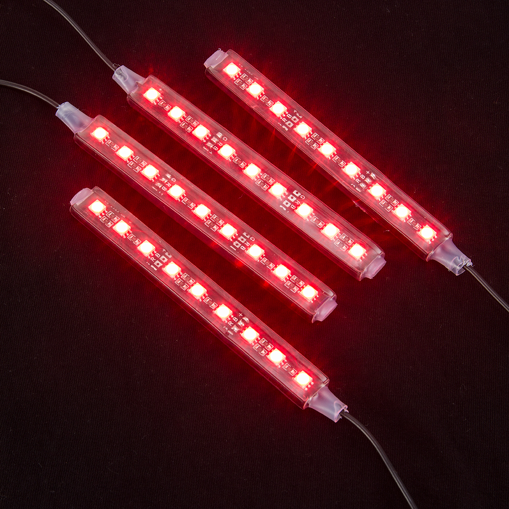 2017 4x12 LED 7 գույներով Led Car Atmosphere Light - Ավտոմեքենայի լույսեր - Լուսանկար 4