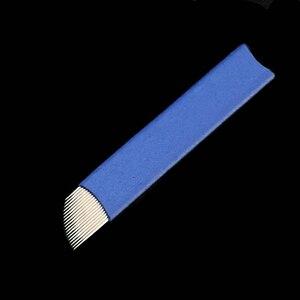 Image 5 - 50 ピースフレックス 7/9/11/12/14/16/18/21 針マニュアルペン半アートメイクマニュアル Microblading 眉毛ペン針