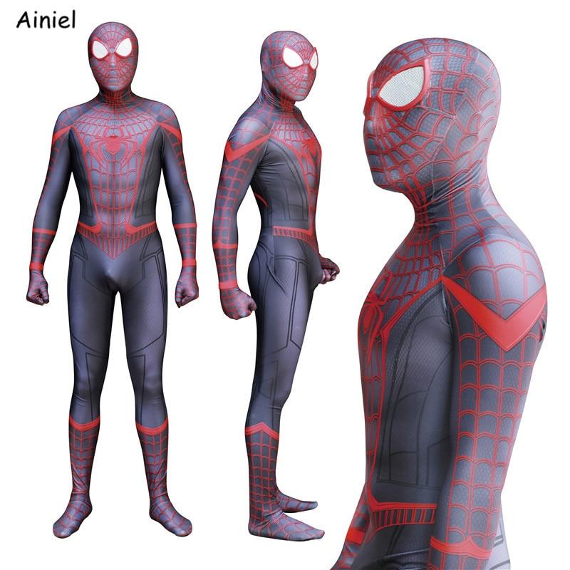 Alarm Ainiel Nieuwe Spiderman Homecoming Kinderen/volwassen Spiderman 3d Schaduw Spandex Cosplay Zentai Pak Modern Ontwerp
