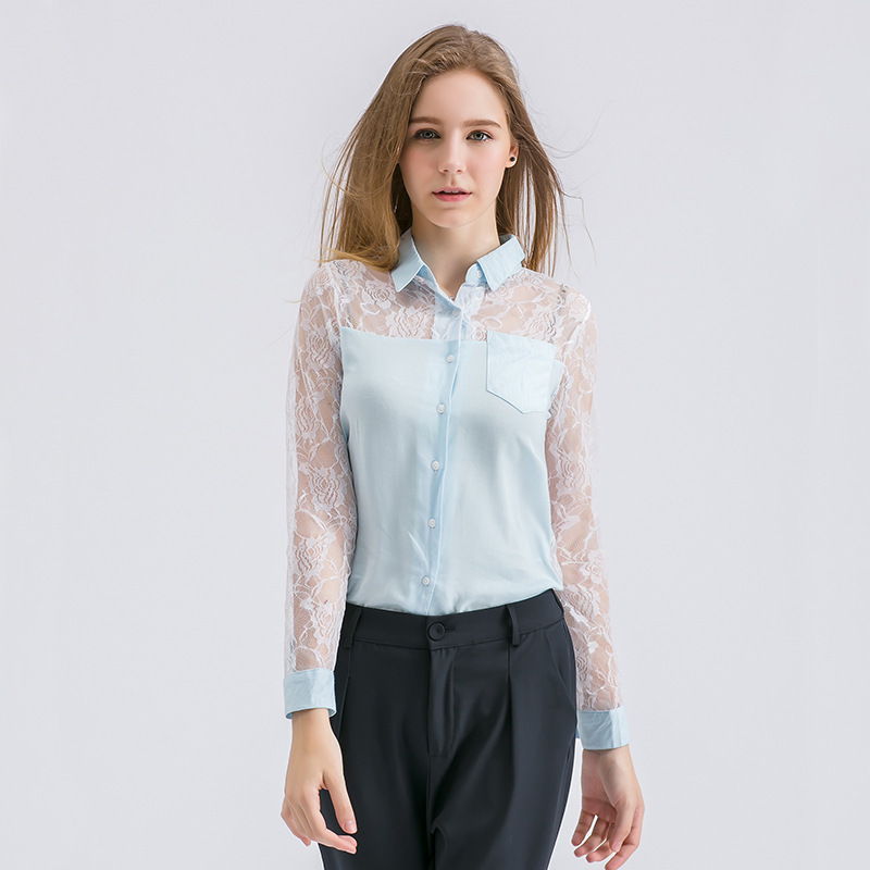 Summer Chiffon Blouse Embroidery Lace Sexy Casual Knitted Hollow Out Printing Women Fashion Tops 2017 Cardigan
