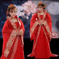 Luxury queen costume fairy hanfu tang tail Chinese ancient womens clothing princess stage costumes performance dance clothes