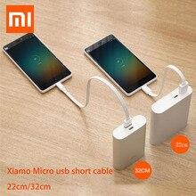 22/32 cm Original xiaomi powerbank câble Micro USB court câble de données de charge pour batterie externe câble Android microUSB câble de câble