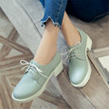 Plus Size 34-43 Women Oxfords Shoes Spring Fashion Lace-Up Flats Round Toe Creepers Casual Ladies Platform Woman Moccasins Shoes