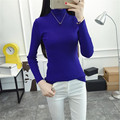 Fashion women's sweater half-high-necked long-sleeved knit Short paragraph soft warm sweater Slim bottoming shirt JF005