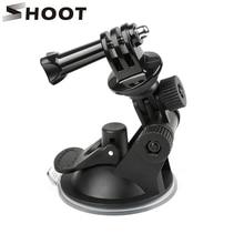 SHOOT GoPro Hero 용 미니 윈드 실드 흡입 컵 9 8 7 6 5 블랙 Sjcam Sj4000 Xiaomi Yi 4K Eken H9 H9r Go Pro Hero 9 8 액세서리
