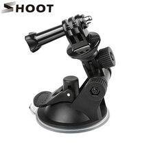 SHOOT Mini Присоска на лобовое стекло для GoPro Hero 9 8 7 6 5 Black Sjcam Sj4000 Xiaomi Yi 4K Eken H9 H9r Go Pro Hero 9 8 аксессуар
