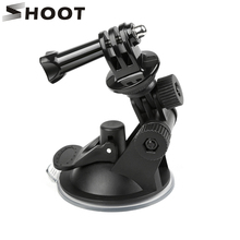 SHOOT Mini Windshield Suction Cup for GoPro Hero 8 7 6 5 Black Sjcam Sj4000 Xiaomi Yi 4K Eken H9 H9r Go Pro Hero 7 6 5 Accessory shoot 19 49cm portable selfie stick extend monopod for gopro hero 7 5 6 session xiaomi yi 4k sjcam sj4000 sj5000 eken h9 camera