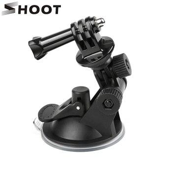 цена на SHOOT Mini Windshield Suction Cup for GoPro Hero 8 7 6 5 Black Sjcam Sj4000 Xiaomi Yi 4K Eken H9 H9r Go Pro Hero 7 6 5 Accessory