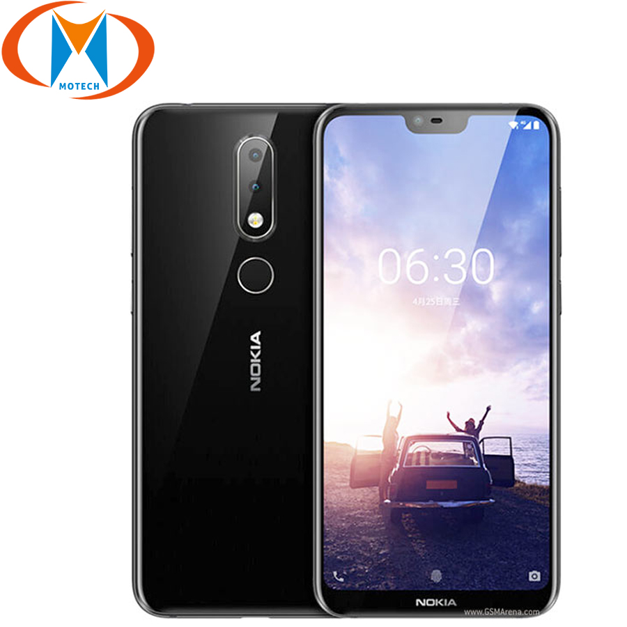 """Brand new Nokia 6.1 Plus Mobile Phone 4G LTE  4GB RAM 64GB ROM 5.8"""" Snapdragon 636 Octa Core Fingerprint Android Phone-in Cellphones from Cellphones & Telecommunications    1"""