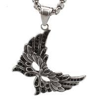 Schmetterling Maske Anhänger Halskette Vintage Edelstahl Schmuck Persönlichkeit Tuch Zubehör