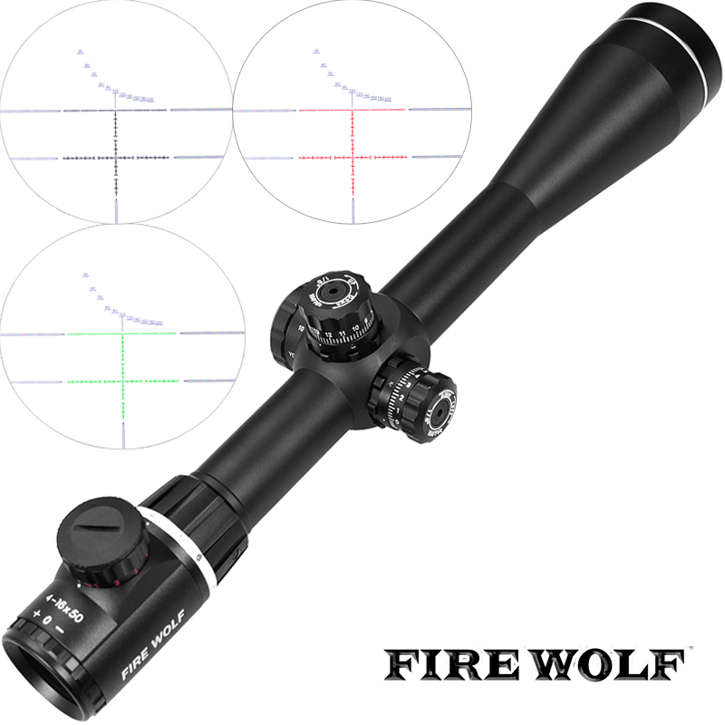 Fire Wolf 4-16X50SF Optics Riflescope Side Parallax Tactical Hunting Scopes Rifle Scope Mounts For Airsoft Sniper Rifle