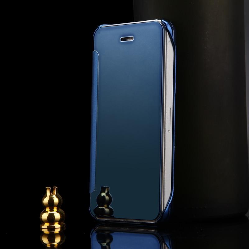 2015 lyxigt klart spegelfodral för iPhone 5 5S 5G Flip Smart Phone - Reservdelar och tillbehör för mobiltelefoner - Foto 6