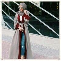 Fashion islamic clothes 2019 patchwork women muslim abaya in dubai turkey malay arab dress ladie cardigan kaftan moroccan