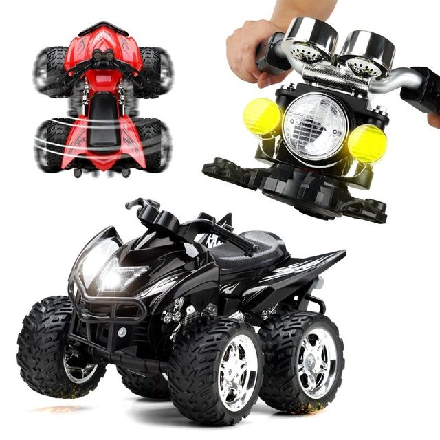 RC Motorcycles 4 Wheels Stunt Motorcycle 40 km / h Multifunction Cross Country Remote Control Car Children's Toys Gifts Toy