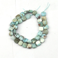 rectangle shape larimar/Copper Pectolite beads spacer stone beads DIY loose beads for jewelry making strand 15 free shipping