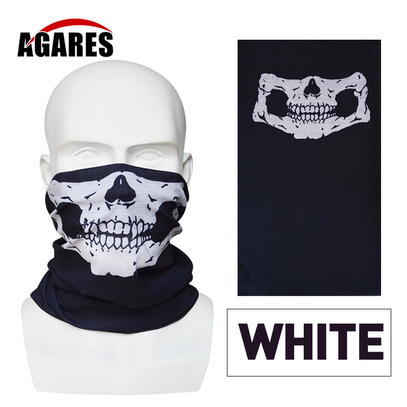 Air Force Skull Tubular Protective Dust Mask Bandana Motorcycle Riding Polyester Scarf Face Neck Warmer Mask summer dust proof sunscreen neck mask female outdoor riding mask