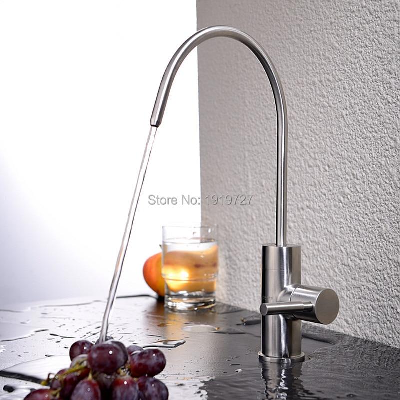 best modern brushed nickel single handle kitchen sink dispenser drinking water filter faucet stainless steel filtration - Kitchen Sink Drink