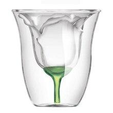 Bodum дизайн Роза форма двойными стенками Copo Gafas Vetro двухслойный бокал для вина коктейль флип ликер чашка ВАСО бытовой бар подарок для влюбленных