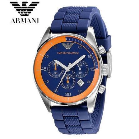 цена на Free shipping original Armani watches, sports watch with Armani men silicone watch AR5864 AR5865 + Original box