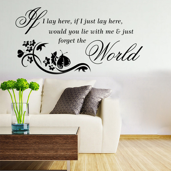 Wall Art Stickers Song Lyrics : Song wall decals reviews ping