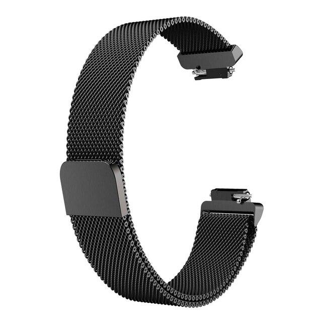 Pour Fitbit Inspire HR remplacement de la bande milanaise boucle magnétique Correa bracelet en acier inoxydable Betl pour Fitbit Inspire Smartwatch
