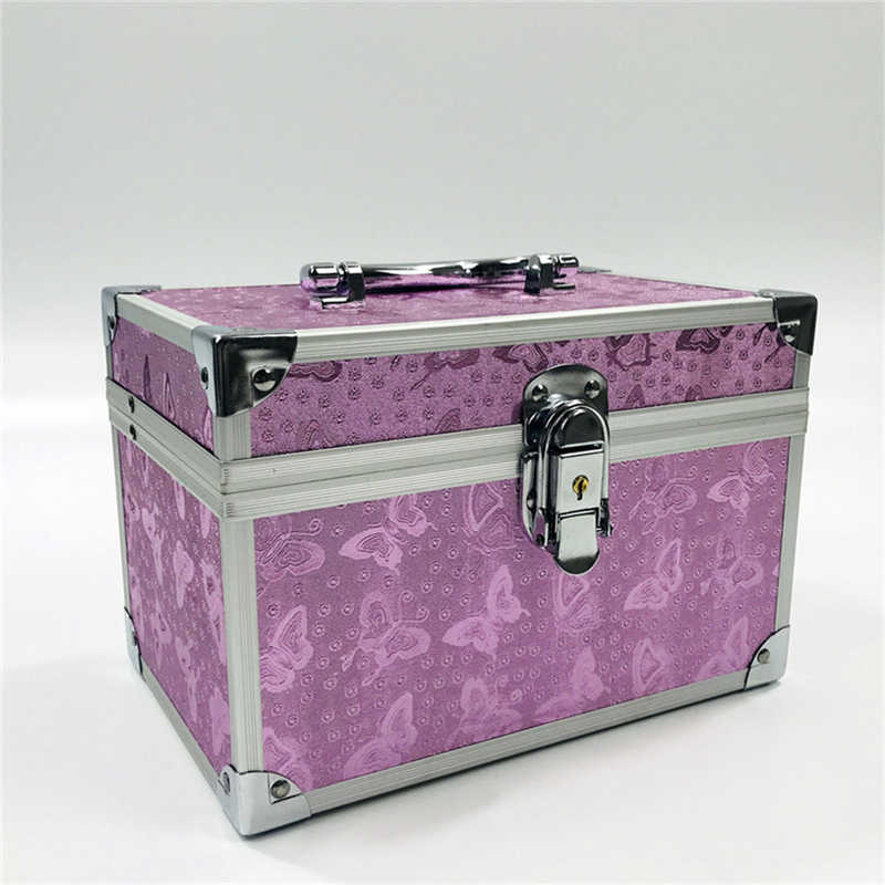 Fashion Suitcase Aluminum Cosmetic Bag Case For Cosmetics High Quality Large Capacity Makeup Bag Organizer Storage Suitcases